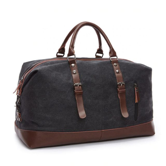 Leather Carry on Luggage Bag