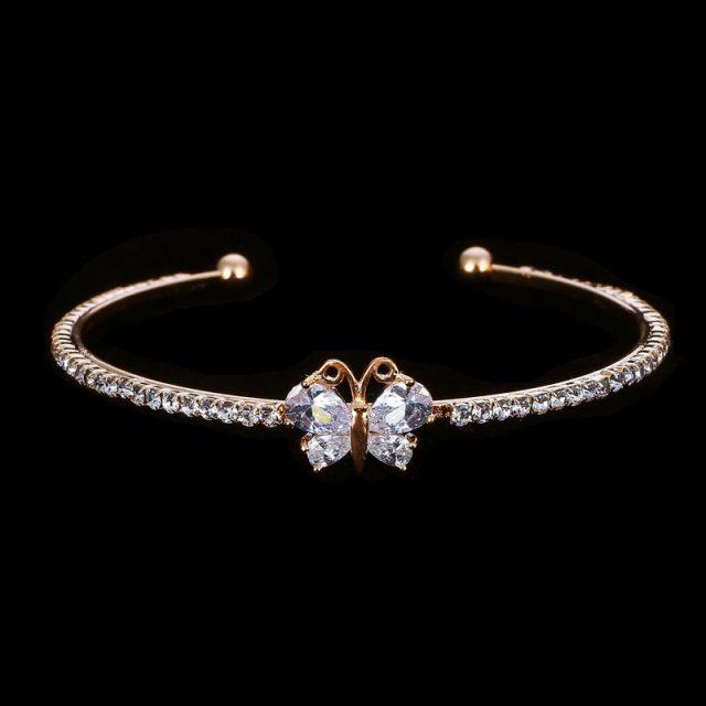 Romantic Butterfly Design Cuff Bracelet
