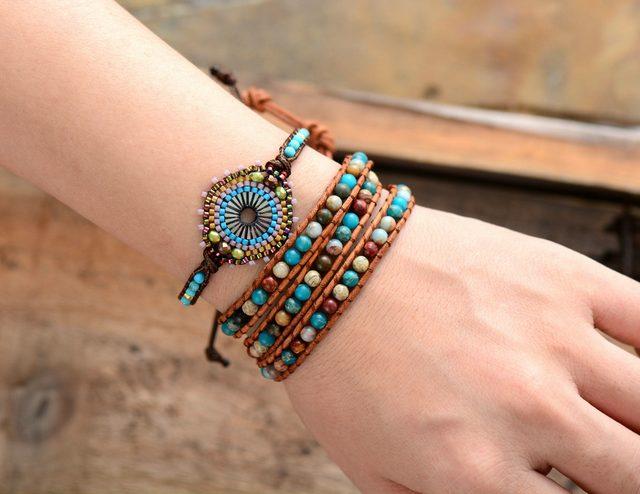 Women's Boho Bracelet with Seed Beads