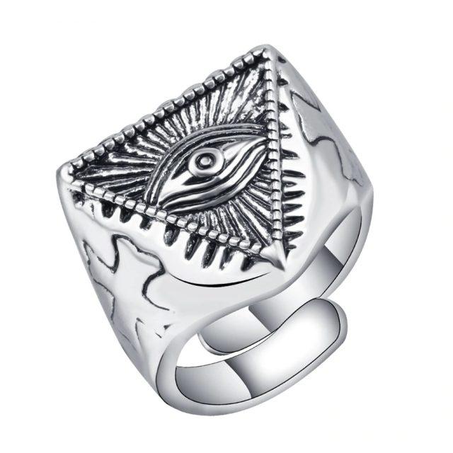 Men's Vintage Unique Silver Ring
