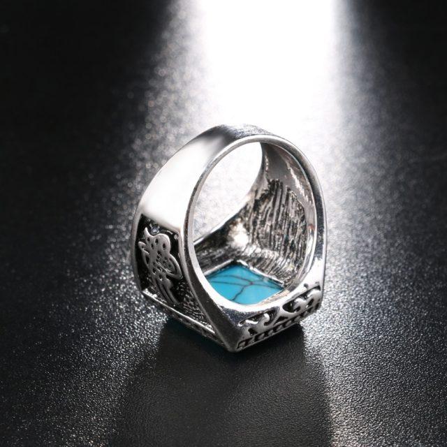 Men's Resin Silver Ring